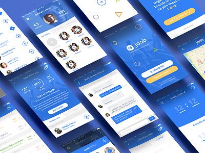 Jaab - Mobile App service ui startup shapes mobile app mobile jaab events design blue application app