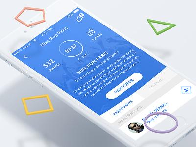 Jaab Mobile App - Event Page ui startup shape service mobile app mobile jaab event design blue application app