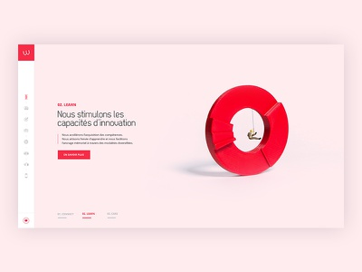 Homepage pastel infographics red elegant dataviz data corporate consulting colors clean 3d