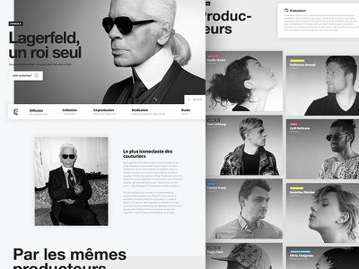 Elephant - Website tv art shadow graphic film layout grid elegant bw web design website