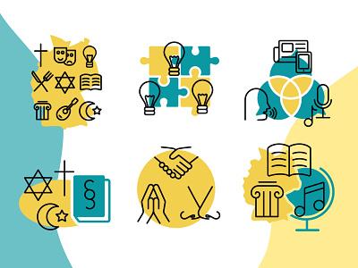 Initiative Kulturelle Integration icon design icon illustration graphic design
