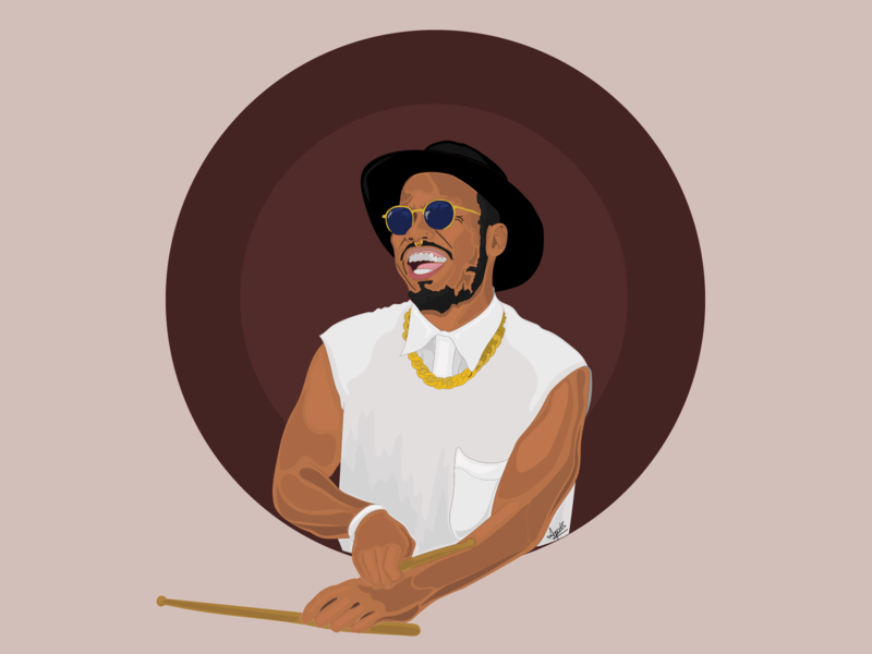 Anderson .Paak vector illustration graphicdesign digitalart drummer music andersonpaak jazz singer digital art digital illustration illustration
