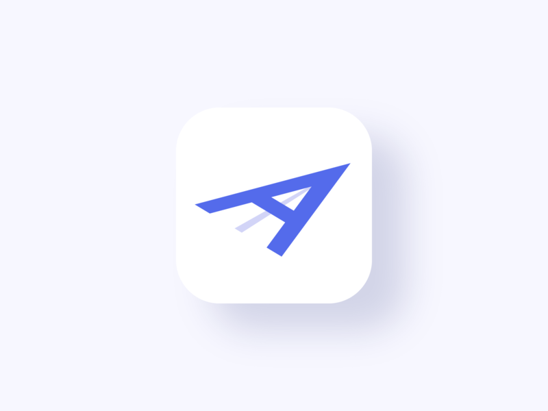 Aachat design minimalist modern flat icon app notification message chat