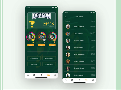 Leaderboard Design scorecard scoreboard winning trophy lists adobexd adobe illustrator leaderboards leadership leaderboard greendesign dark ui app game ui