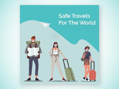 Instagram Post mask travel corona illustration tourism instagram post socialmedia adobe illustrator instagram post