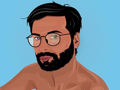 Him vector portrait illustration portrait design portrait art portrait minimal flat illustration design