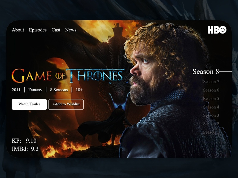 Game of Thrones Ui Design web banner ui web design landing page tyrion lannister banner website dashboard uidesign game of thrones got graphic design