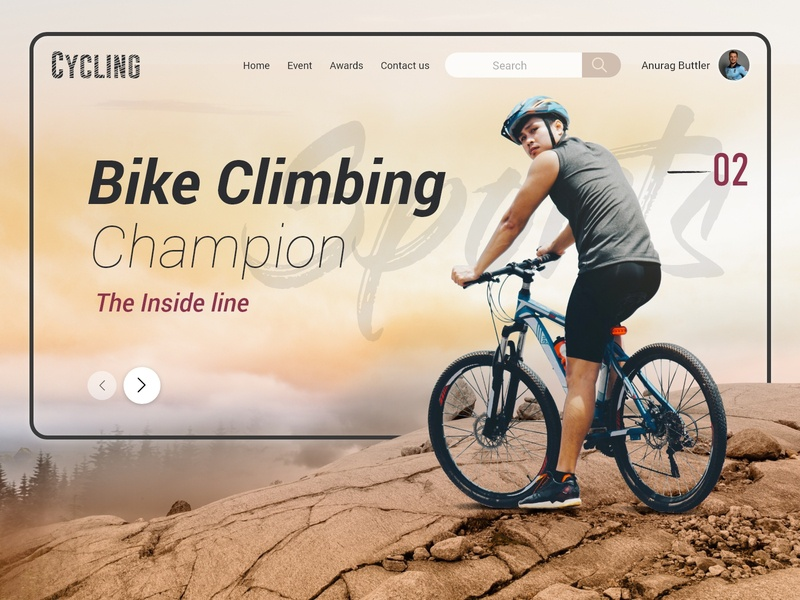 Landing page for Cycling climbing racer website page website banner landing page design website design uiux uidesign ui web banner webpage website landing page cycling sport