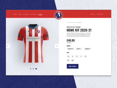 Dorking Football Club Prototype website design e-commerce design store sports football club football