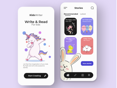 BookKids uiux designs design app flat mobile ui mobile app mobile design mobile adobexd illustrator ux  ui designer uxdesign uxui illustration ux uidesign ui design clean
