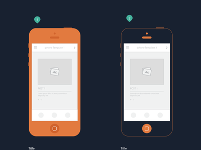 Freebie - Iphone templates for mobile storyboard flat download clean simple wireframe storyboard design ressource free ux ui freebie