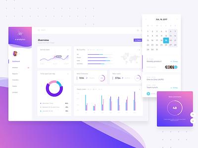 Dashboard dahsboard product design metrics data vizualisation graphic reporting colorfull desktop webapp data ux ui web