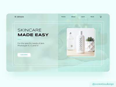 Skincare e-commerce concept design ux design uiux ux design agency landing page web design pastel colors branding design ui design graphic design ui