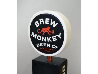 Brew Monkey Tap Sample vector typography beer branding logo craft beer graphic design
