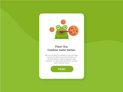 Cookies taste better illustration ux ui frog cookies