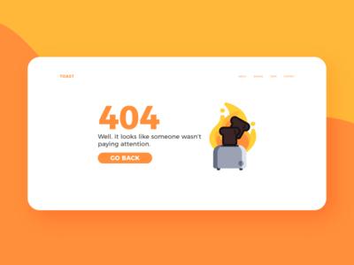 Burning Toast web ux illustration ui 404