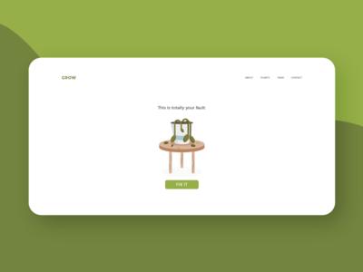 Dead Plant plant web ux illustration ui 404 page 404