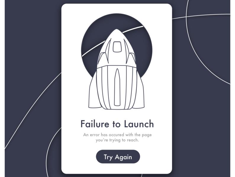 Launch Error State spacex line art error state icon vector illustration ui design