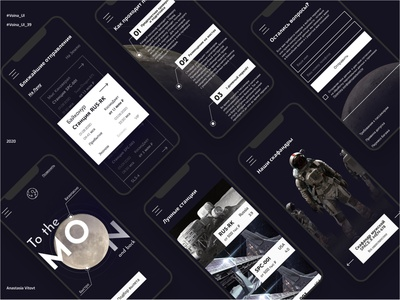 Ticket to the moon service mobile mobile design uiux uxui traveling travel booking moon space inspiration mobile ui uidesign ux concept interaction website web design ui daily creativity