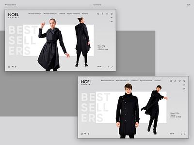 NOEL Concept clothes store mainpage main minimalism inspiration uiux ecommerce clothes store shop design uxui uidesign website web design ux interaction concept ui daily