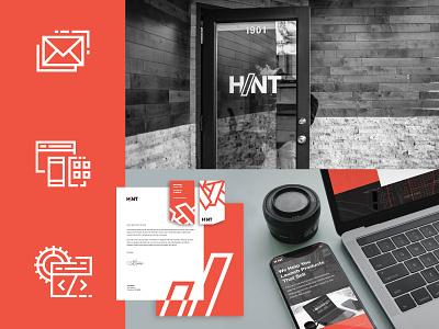 H/NT Rebrand iconography app developer app development company wordmark logotype web design icons set software company vector design graphic design branding brand design