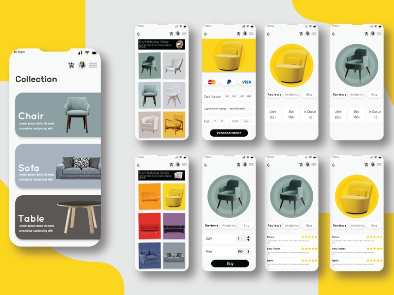 Furniture app design fitness app design dashboard ui dashboard app dashboad app ui app design app ui ux app ui design app designer uidesign uiuxgraphic application