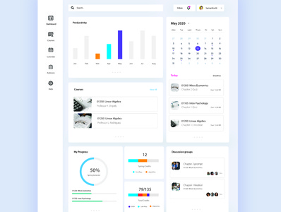 Dashboard class app student work vector student student planning dashboard design dashboard app dashboard ui ui ux design minimal
