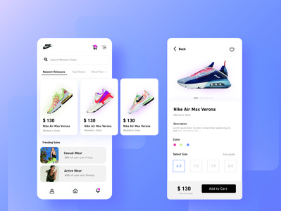 nike Mockup shopping cart shopping app nike shoes footwear design uiux design limo mobile app uiuxdesigner uiux uidesign typography vector mobile ui branding minimal design catalogue design cards ui ux ui