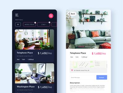 Housing Design lightmode darkmode card design uxdesign uidesign designs airbnb housing uiuxdesigner uiuxdesign vector uiux mobile ui catalogue design cards ui branding ui ux minimal design