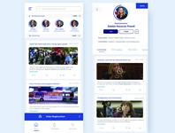 Politigo informative minimalist blue minimal uiuxdesign mobile ui app design political ui political mobile app voter congress mayor voting politics uiux ux ui