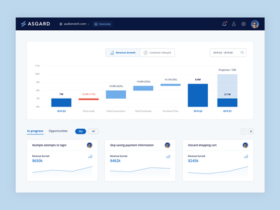 Asgard Analytics - Revenue Growth ui research interface data dashboard app analytics