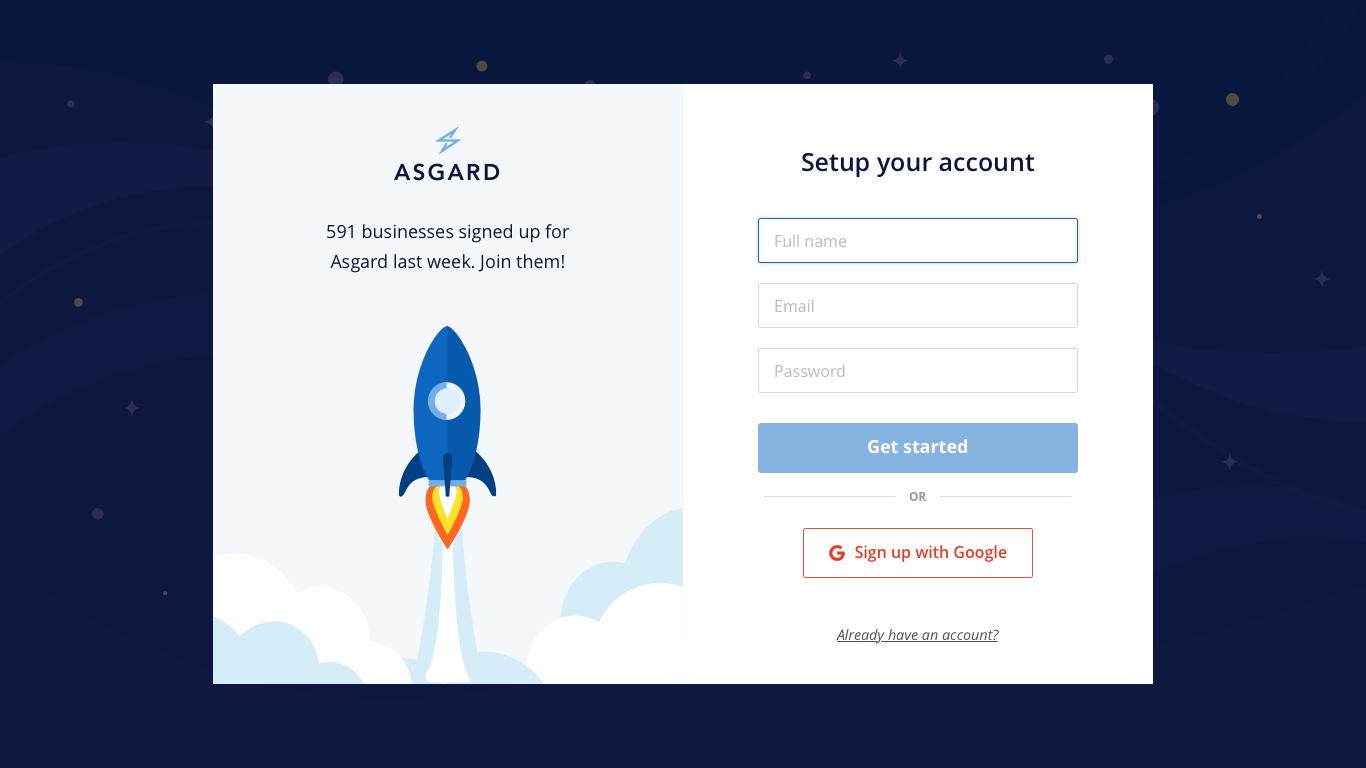 Asgard signup big