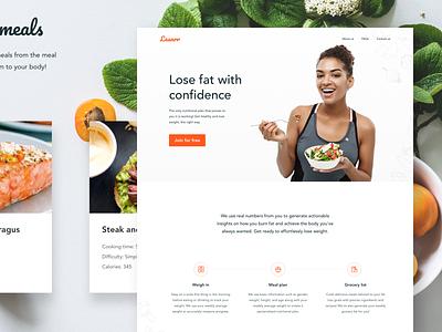 Leanrr Website diet health fitness landing page website