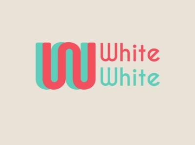 whitewhite / personal logo monogram logo w white vector typography logo monogram design