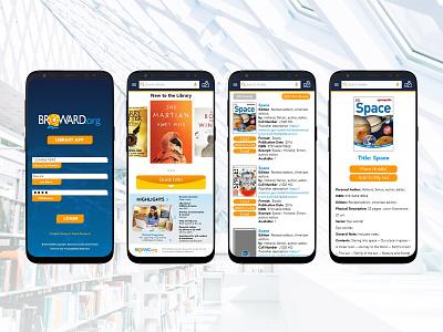 Broward County Library App - Comp app branding comp library xd ux design