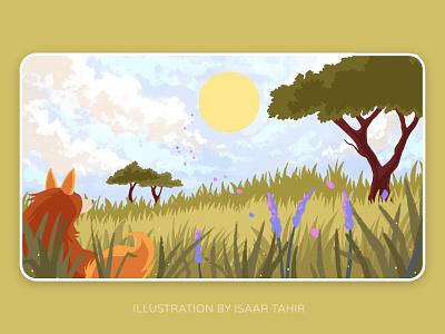 Safari digital art illustration design