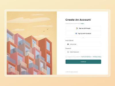 Sign Up Page ui vector digital art illustration design