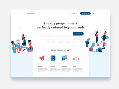 Parallax Scrolling Landing Page