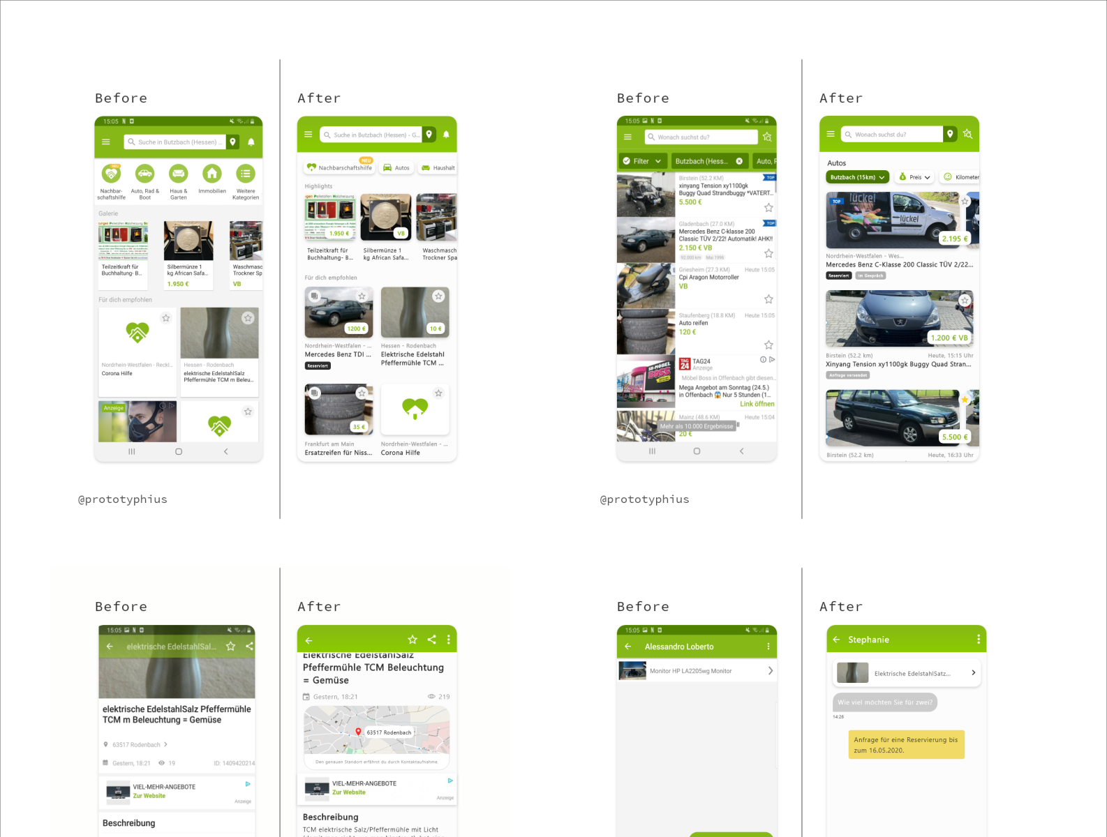 Ux Ui Case Study Of The Ebay Kleinanzeigen App By Zishan On Dribbble