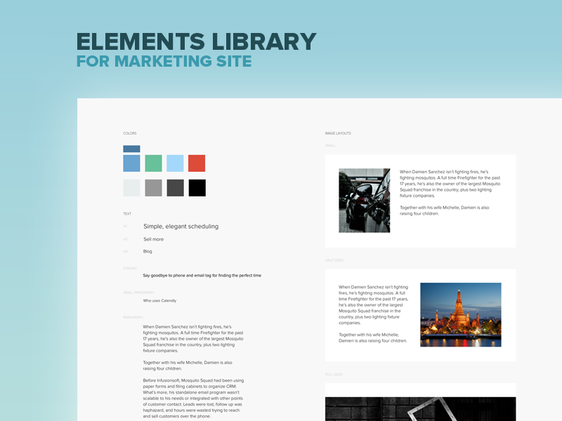 Marketing library preview