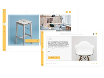 Modern E-commerce Navigation minimalism modern mockup navigation concept furniture swiss minimalist minimal flat web ux user experience ui interface design app adobe xd