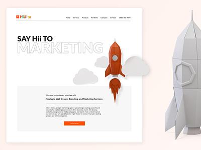 Hiilite 2020 Rebrand modern flat user experience knockout typogaphy marketing website papercraft illustration minimalist minimal branding ux ui interface design adobe xd