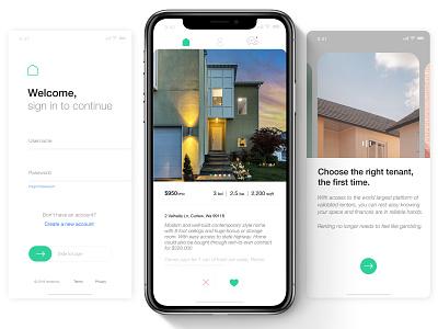 Homer | 2020 Interface Preview minimalism modern rental flat user experience minimal branding app ux ui interface design adobe xd