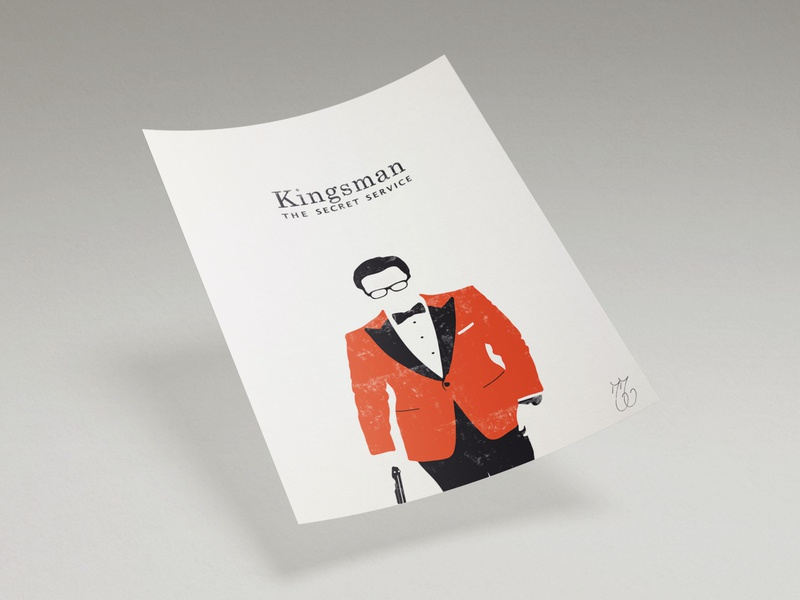 Kingsman Minimalist Poster art mockup illustration digitalart poster illustrator adobe minimalism minimalist minimal photoshop design graphic