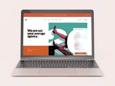 Agency Landing Page Concept form flat  design flat desktop web page landing page user interface design user interface website web modern ux ui concept adobe user experience minimal interface adobe xd design