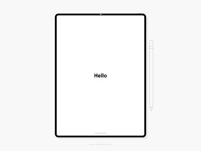 iPad Pro Product Mockup graphic design graphic ipad pro tablet apple product mockup vector illustration adobe flat minimal adobe xd design