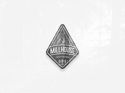 Millhouse Craftworks Logo beer craft adobe xd illustrator icons badge crest icon typography vector branding logo design