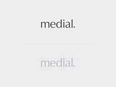 Medial Logo Design illustrator branding wordmark type typography design logo