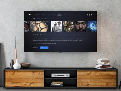 Apple TV Interface Concept apple tv tv apple mockup concept modern interface flat ux ui adobe xd minimal design