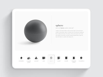 Minimalistic Touch Navigation - Balance & Shape adobe ui mockup minimalist modern interface flat adobe xd minimal design